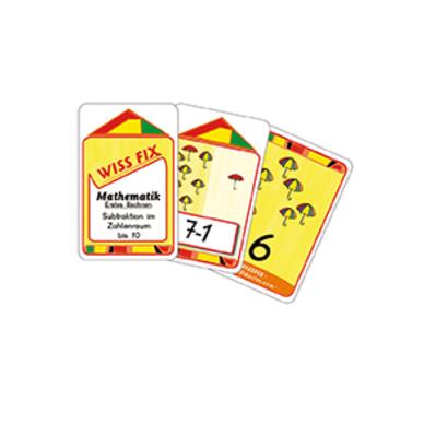 Wissfix-Kartensatz 'Subtraktion bis 10