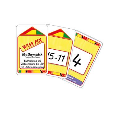 Wissfix-Kartensatz 'Subtraktion bis 20