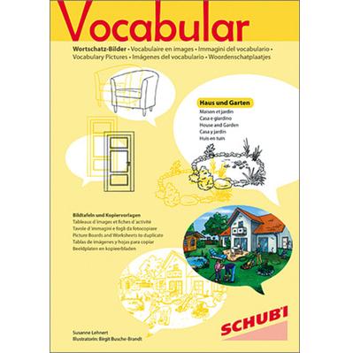 Vocabular Wortschatzbilder Wohnen 1: Haus und Garten