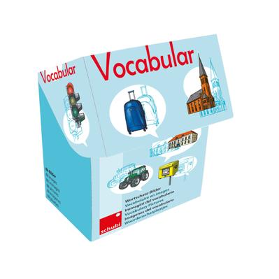 Vocabular Wortschatzbilder - Fahrzeuge, Verkehr, Gebäude